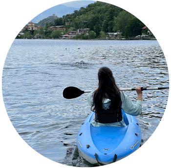 canoa sul lago di avigliana