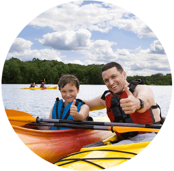Kayak sul lago di avigliana
